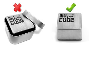 Remove the Wucube From the Tin Box/packaging